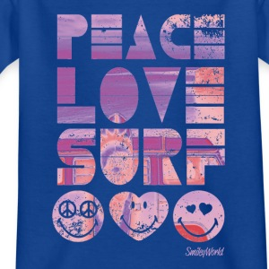 SmileyWorld 'Peace Love Surf' teenager t-shirt - Teinien t-paita