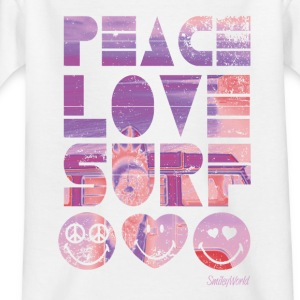 Smiley World Peace Love Surf Kinder T-Shirt - Kinder T-Shirt