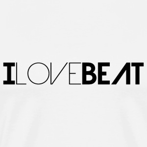 I LOVE BEAT for Beat Lovers - Männer Premium T-Shirt