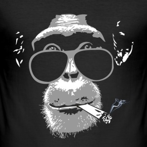 Chimpanzee with joint   T-Shirts - Männer Slim Fit T-Shirt