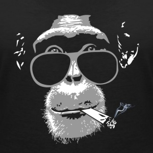 Chimpanzee with joint   T-Shirts - Women's V-Neck T-Shirt