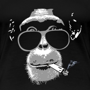 Chimpanzee with joint   Tee shirts - T-shirt Premium Femme