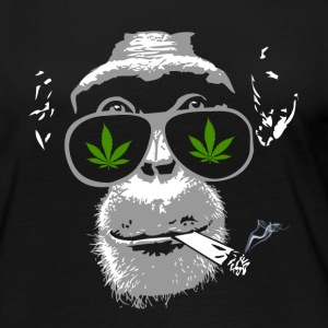 Chimpanzee with joint - Marijuana Long Sleeve Shirts - Women's Premium Longsleeve Shirt