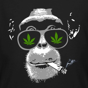 Chimpanzee with joint - Marijuana T-shirts - Mannen Bio-T-shirt
