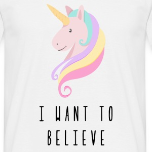 Licorne I Want To Believe Tee shirts - T-shirt Homme