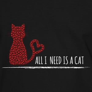 all i need is a cat-weiß T-Shirts - Männer Kontrast-T-Shirt