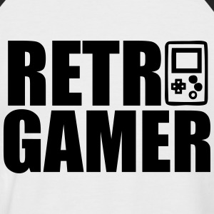 Retro Gamer : Retro gaming T-Shirts - Männer Baseball-T-Shirt