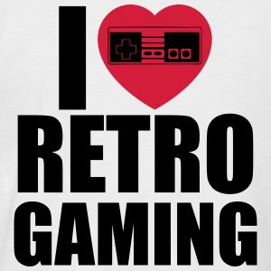 i love retro gaming T-Shirts - Männer Baseball-T-Shirt