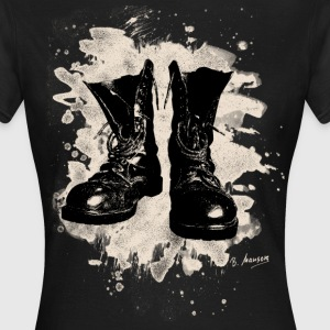 Old Boots bleached look - Frauen T-Shirt