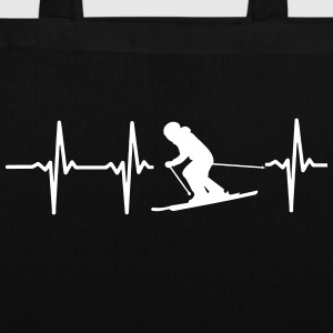 MY HEART BEATS FOR WINTER SPORTS! Bags & Backpacks - Tote Bag