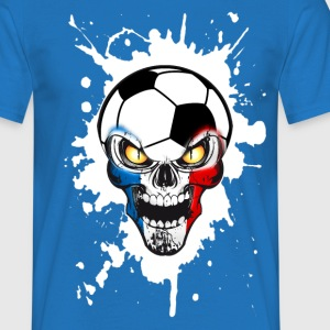 Football Skull France 01 Tee shirts - T-shirt Homme