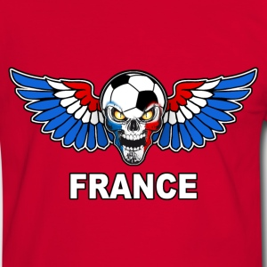 Football Skull France 02 Tee shirts - T-shirt contraste Homme