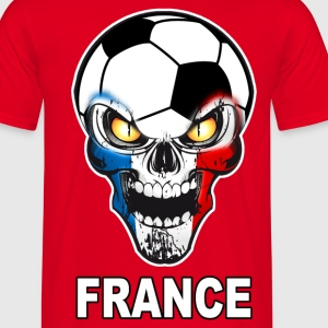 Football Skull France 03 Tee shirts - T-shirt Homme