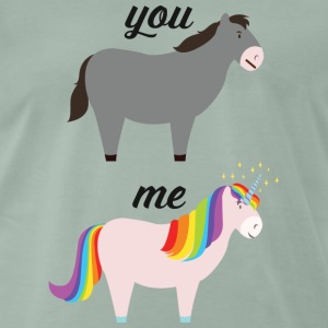 You VS Me (Donkey / Unicorn) T-Shirts - Männer Premium T-Shirt