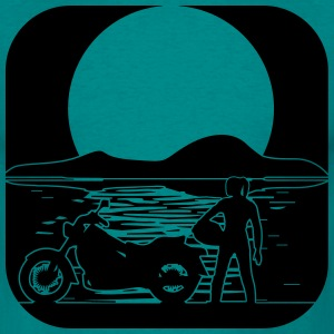full moon motorcycle T-Shirts - Men's T-Shirt