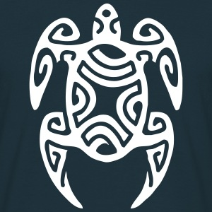 POLYNESIAN SEA TORTOISE (tribal design) - Men's T-Shirt