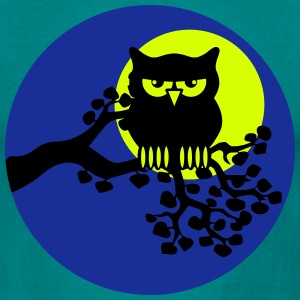 full moon owl ast T-Shirts - Men's T-Shirt
