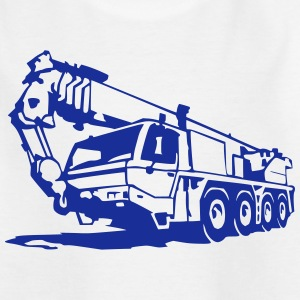 Autokran, crane (1 color) Shirts - Kids' T-Shirt