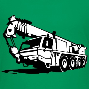 Autokran, crane (2 color) T-Shirts - Teenager Premium T-Shirt