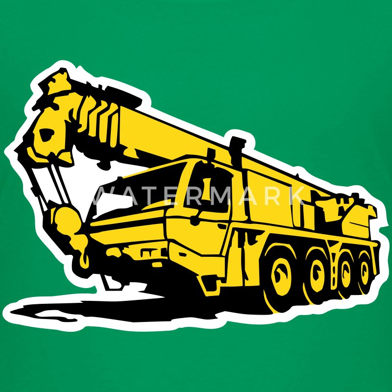 Autokran, crane (3 color) T-Shirts - Teenager Premium T-Shirt
