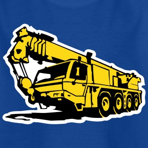 Autokran, crane (3 color) T-Shirts - Kinder T-Shirt