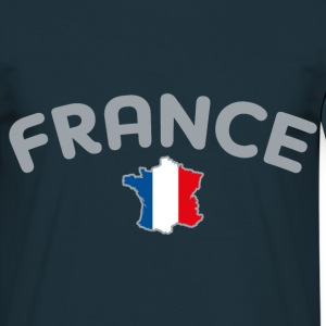 Tee Shirt France Carte de France drapeau Français - T-shirt Homme