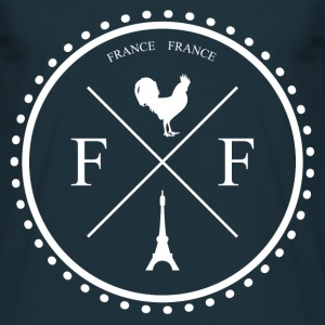 Tee Shirt France Badge France Coq Tour Eiffel B - T-shirt Homme