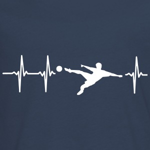 MY HEART BEATS FOR FOOTBALL! Long Sleeve Shirts - Teenagers' Premium Longsleeve Shirt
