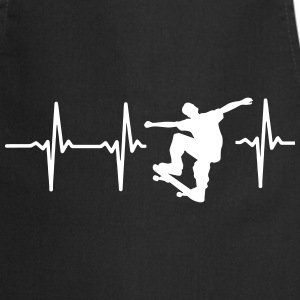 MY HEART BEATS FOR SKATEBOARDING!  Aprons - Cooking Apron