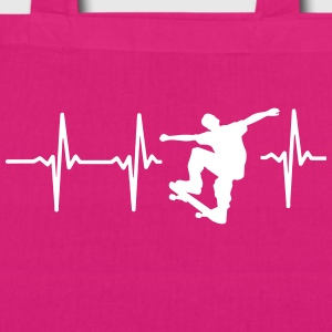 MY HEART BEATS FOR SKATEBOARDING! Bags & Backpacks - EarthPositive Tote Bag