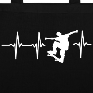 MY HEART BEATS FOR SKATEBOARDING! Bags & Backpacks - Tote Bag