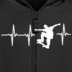 MY HEART BEATS FOR SKATEBOARDING! Hoodies - Kids' Premium Zip Hoodie