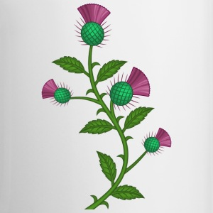 scotland thistle flower - Mug