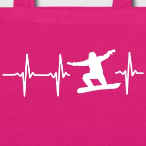 MY HEART BEATS FOR SNOWBOARDING! Bags & Backpacks - EarthPositive Tote Bag