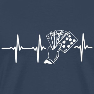 MIT HJERTE BANKER FOR POKER! T-shirts - Herre premium T-shirt