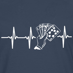 MY HEART BEATS FOR POKER! Long sleeve shirts - Men's Premium Longsleeve Shirt