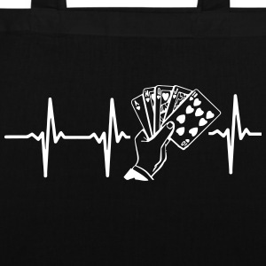 MY HEART BEATS FOR POKER! Bags & Backpacks - Tote Bag