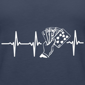 MY HEART BEATS FOR POKER! Tops - Women's Premium Tank Top