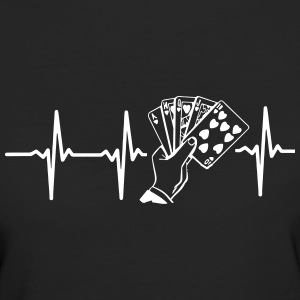 MIT HJERTE BANKER FOR POKER! T-shirts - Organic damer