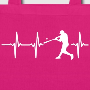 MY HEART BEATS FOR BASEBALL! Bags & Backpacks - EarthPositive Tote Bag