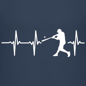 MY HEART BEATS FOR BASEBALL! Shirts - Teenage Premium T-Shirt