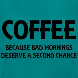 Coffee because bad mornings.... T-shirts - Dame-T-shirt