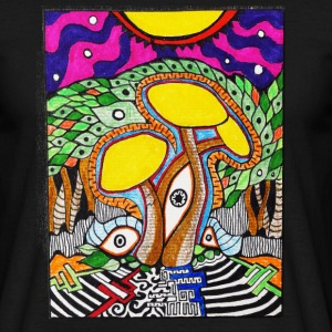 Magic Mushroom Dreamscape - Männer T-Shirt