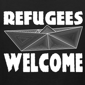 Refugees Welcome Tanktop - Männer Premium Tank Top