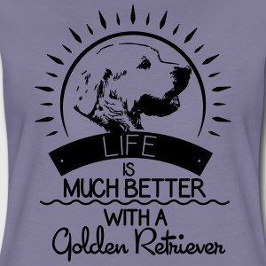 Life is better - Golden Retriever T-Shirts - Women's Premium T-Shirt
