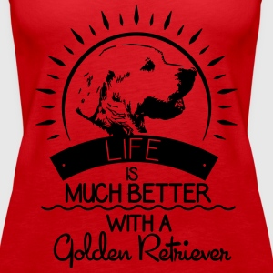 Leven is beter - Golden Retriever Tops - Vrouwen Premium tank top