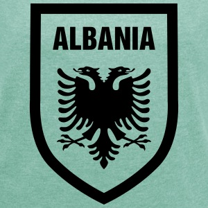 Albania - Women's T-shirt with rolled up sleeves