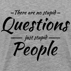 There are no stupid questions T-Shirts - Männer Premium T-Shirt