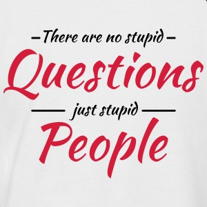 There are no stupid questions T-Shirts - Männer Baseball-T-Shirt