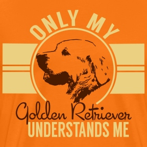 Only mean Golden Retriever T-Shirts - Men's Premium T-Shirt